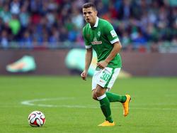 Marnon Busch brachte es in dieser Saison auf sieben Einsätze für Werder