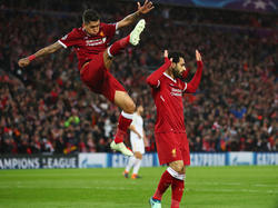 Mohamed Salah (r.) zeigte vor eigenem Publikum wieder einmal eine Galavorstellung