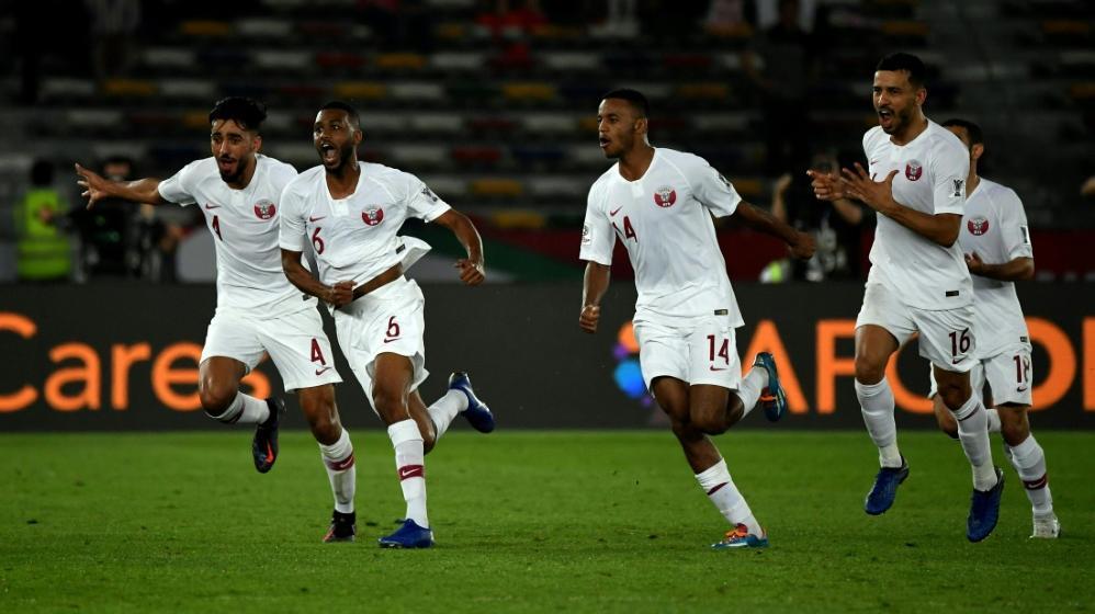 Abdulaziz Hatem (2.v.l.) schoss das goldene Tor gegen Südkorea
