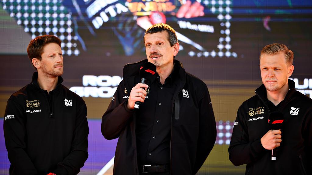 Romain Grosjean (l.) und Kevin Magnussen (r.) wissen, wie Teamchef Steiner tickt