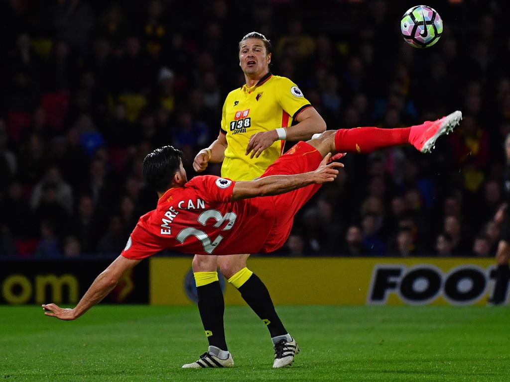 Akrobatisch, elegant, traumhaft schön: Emre Can schießt Liverpool zum Sieg