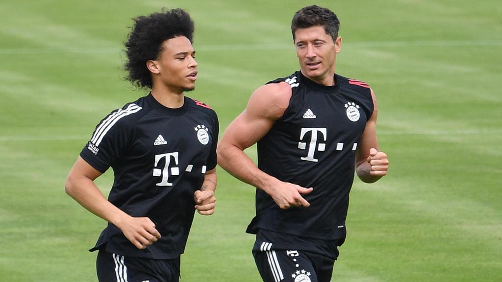 Leroy Sané und Robert Lewandowski zählen beim FC Bayern zu den Großverdienern