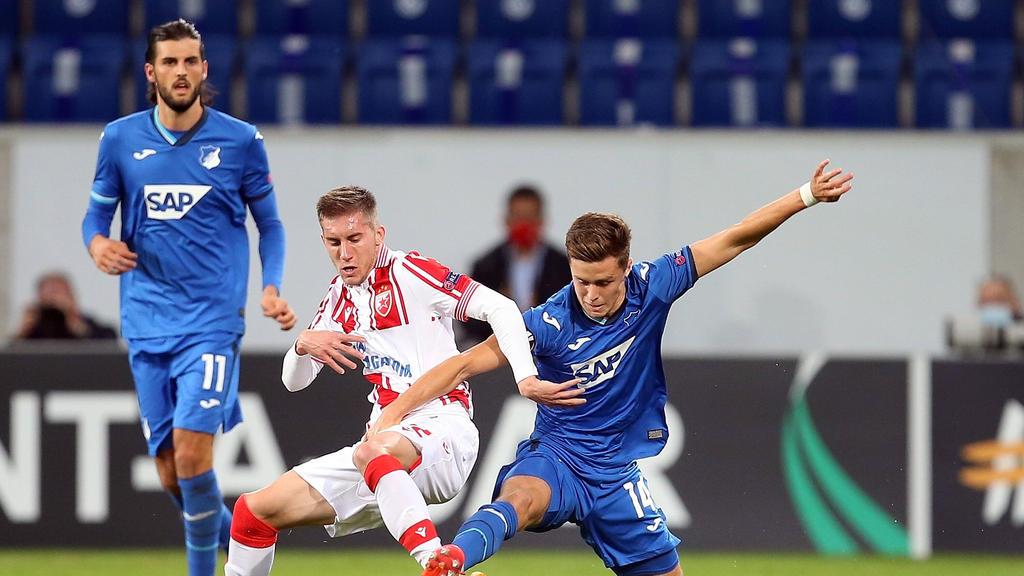 Die TSG Hoffenheim gewann gegen Roter Stern Belgrad