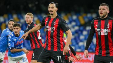 Zlatan Ibrahimovic traf auch gegen Napoli doppelt