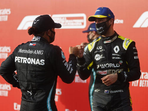 Lewis Hamilton und Daniel Ricciardo verstehen sich ganz hervorragend