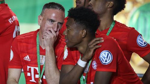 Franck Ribéry (l.) und David Alaba feierten gemeinsam große Erfolge mit dem FC Bayern