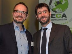 Raphael Landthaler mit Juve-Boss Andrea Agnelli bei der ECA (credit: Fabio Bozzani)
