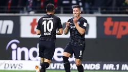 Frankfurts Luka Jovic erzielte gegen Fortuna Düsseldorf gleich fünf Tore