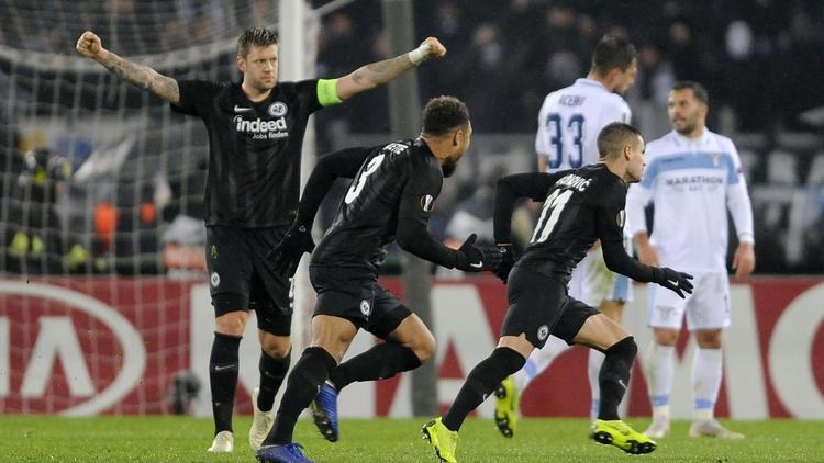 Eintracht Frankfurt setzte sich auch bei Lazio Rom durch