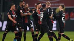 Kollektiver Jubel bei Bayer Leverkusen