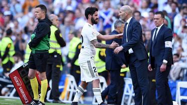 Isco (l.) erzielte das 1:0 für Real Madrid