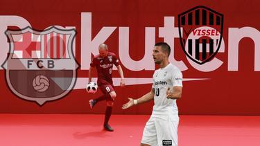 Andrés Iniesta und Lukas Podolski spielen für Vissel Kobe