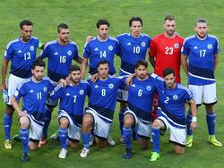 Die Nationalelf von San Marino vor dem WM-Quali-Spiel gegen Deutschland 2018