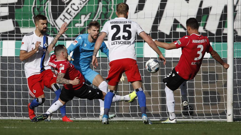 Der HSV rettete einen Punkt bei Hannover 96
