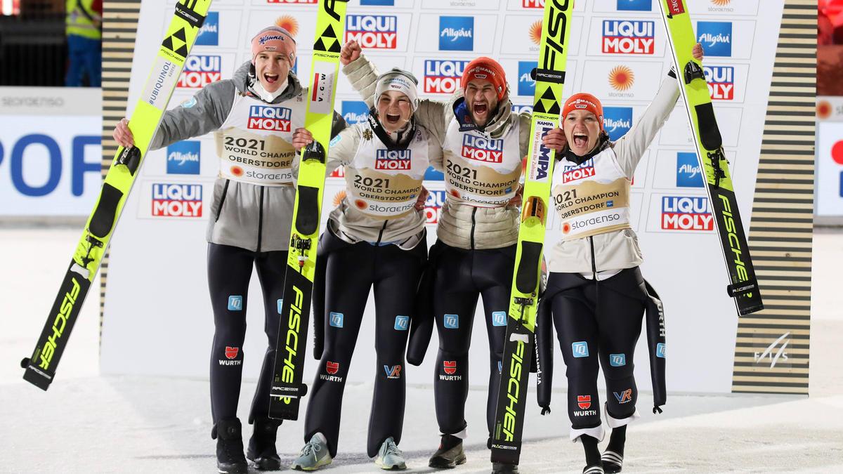 Das deutsche Mixed-Team holte WM-Gold