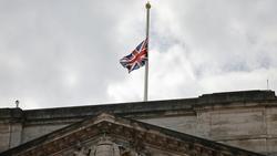 Die britischen Fahnen wurden auf halbmast gesetzt