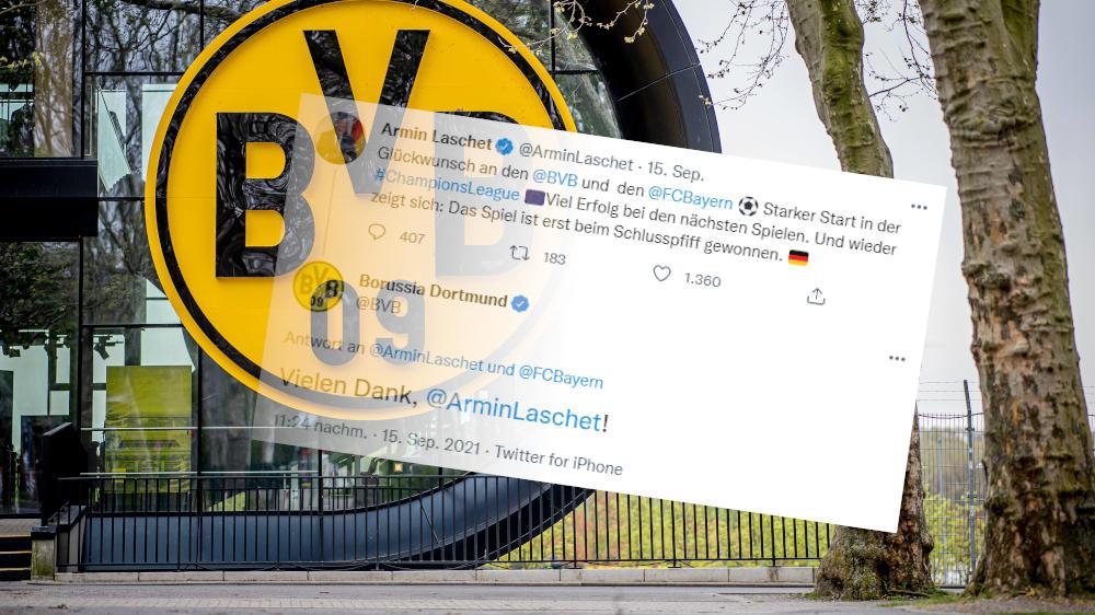 Laschet-Retweet löst Shitstorm für den BVB aus