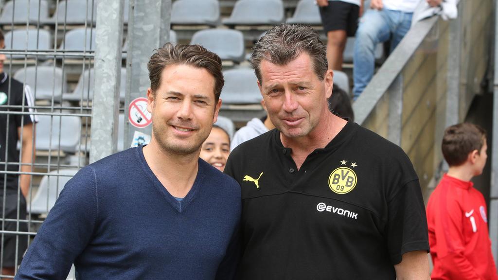 Lars Ricken und U19-Trainer Michael Skibbe vom BVB nehmen die Youth League mittlerweile ernst