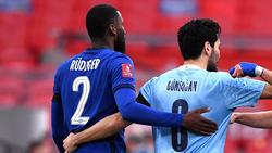 Antonio Rüdiger und Ilkay Gündogan (r.) stehen im CL-Finale