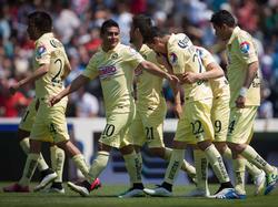 Los jugadores del América celebrando un gol. (Foto: Getty)