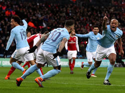 City jubelt gegen Arsenal