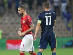 Bosnien-Star Edin Džeko stärkt Österreichs Marko Arnautović den Rücken
