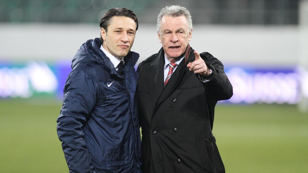 Ottmar Hitzfeld (r.) 2014 an der Seite des heutigen Bayern-Trainers Niko Kovac