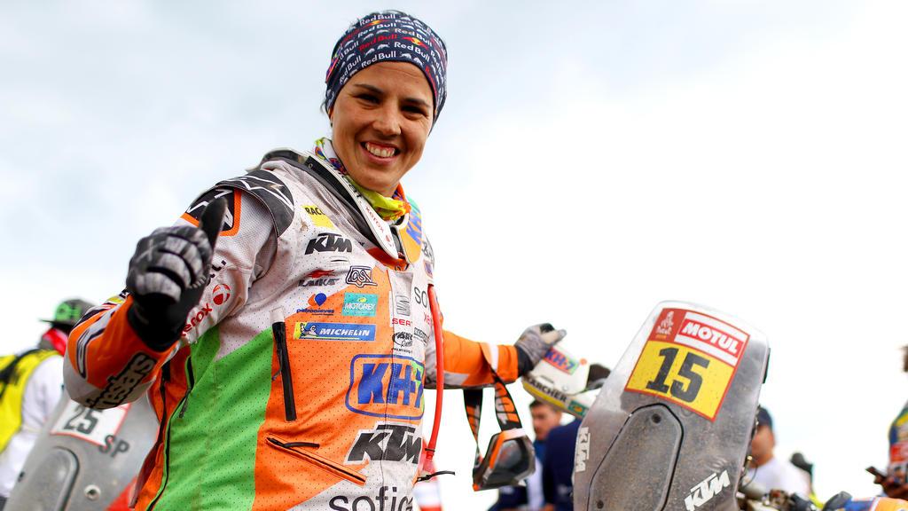Die Spanierin Laia Sanz fuhr mit dem Motorrad schon in die Top 10