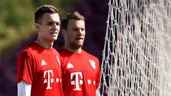 Christian Früchtl (l.) kommt beim FC Bayern vorerst nicht an Manuel Neuer vorbei