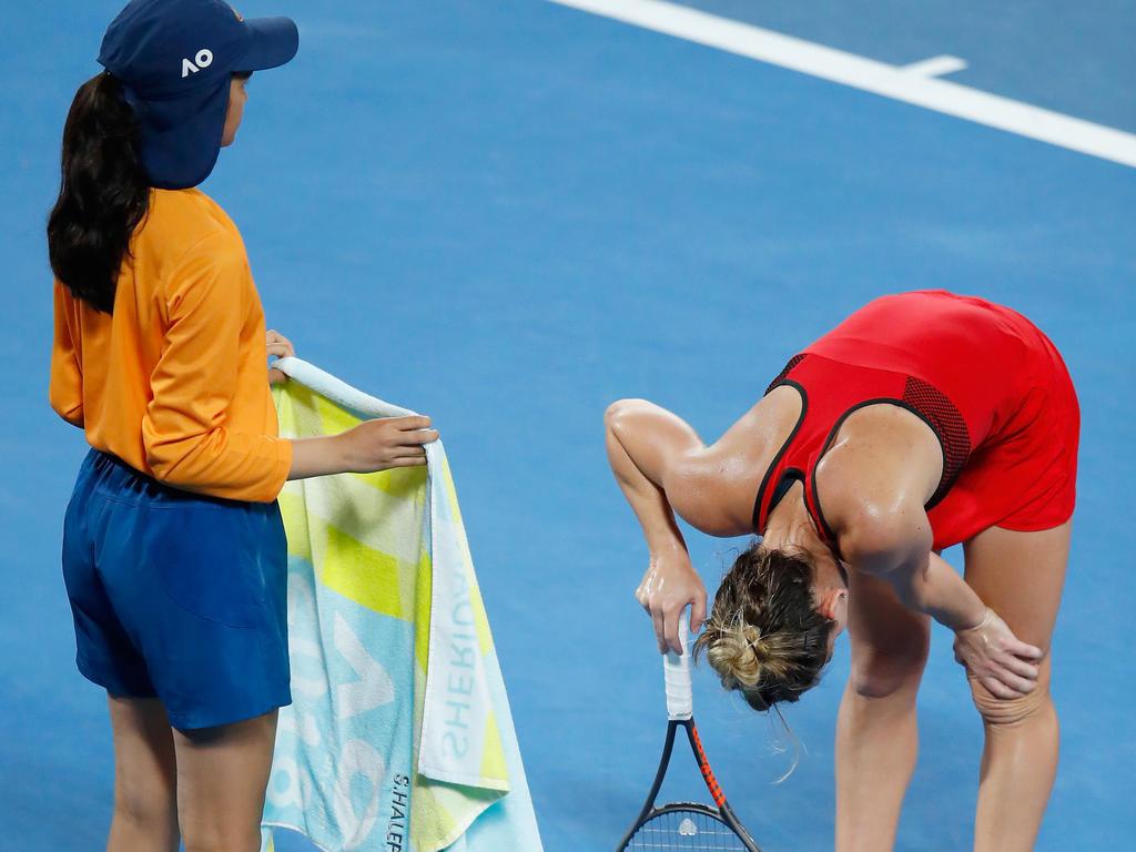 Simona Halep musste nach dem Finale der Australien Open ins Krankenhaus