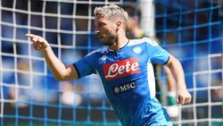Eine Option für den BVB? Napoli-Stürmer Dries Mertens weiß, wo das Tor steht