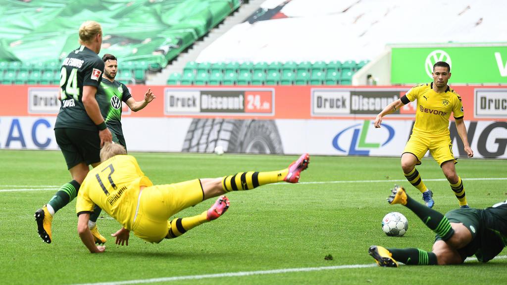 1:0 - Haland verpasst, aber Raphael Guerreiro steht bereit.