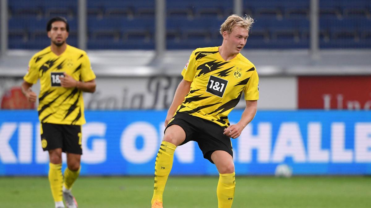 Can (hinten) und Brandt waren am Montag für den BVB aktiv