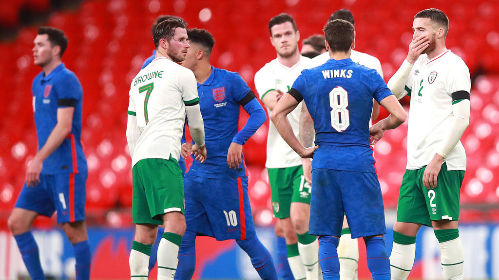 Alan Browne (7) wurde nach der Partie gegen England positiv auf das Corona-Virus getestet