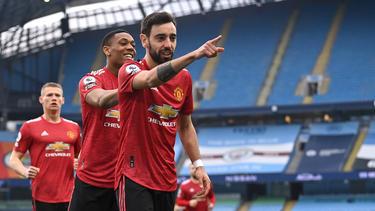 Manchester United setzte sich gegen Manchester City durch