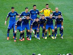 Die Startformation Argentiniens im WM-Finale 2014