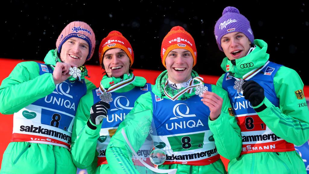 Die deutschen Skispringer streben viele Medaillen an