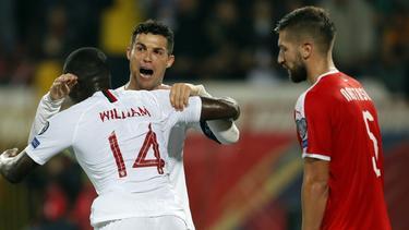 Cristiano Ronaldos Portugiesen gewinnen in Serbien
