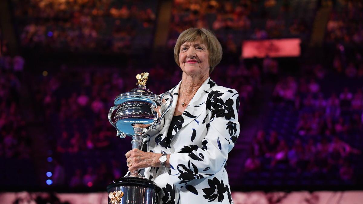 Margaret Court wurde für das 50. Jubiläum ihres Grand-Slam-Erfolges geehrt