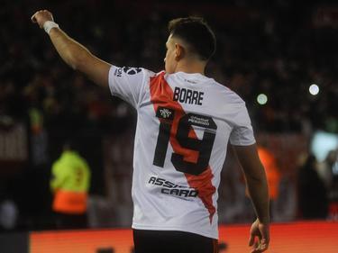 Rafael Borré abrió el marcador al filo del descanso.