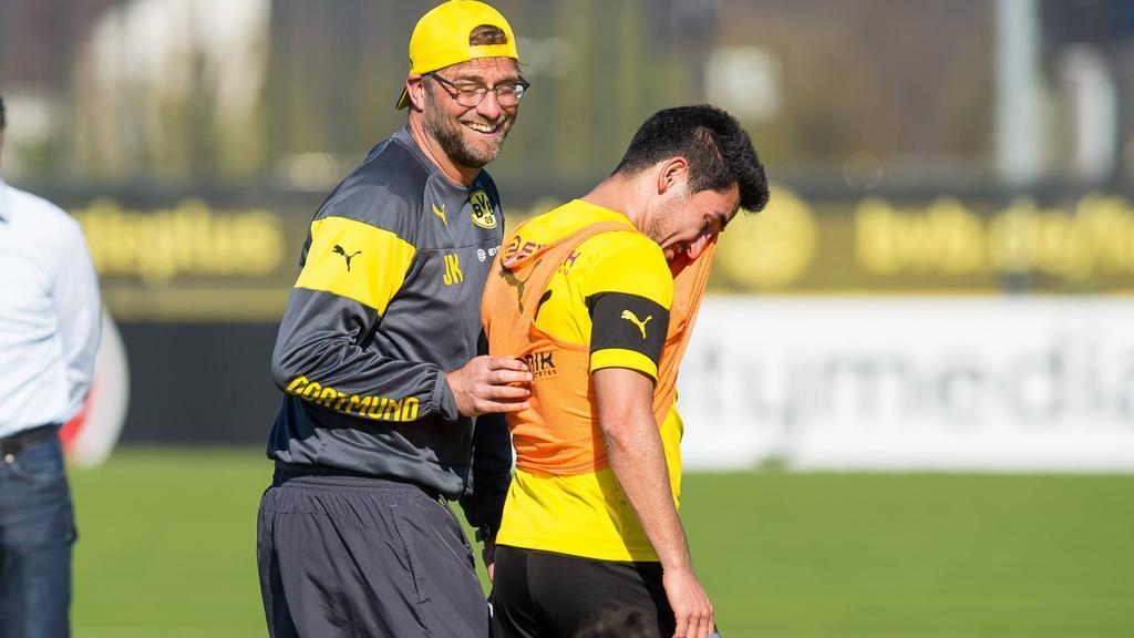 Arbeiteten beim BVB zusammen: Jürgen Klopp und Ilkay Gündogan