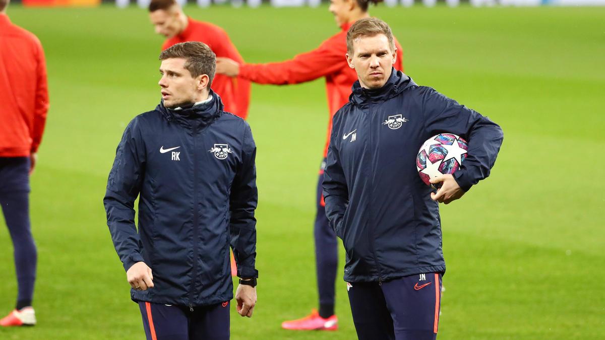 Julian Nagelsmann und Robert Klauß arbeiteten bei RB Leipzig zusammen