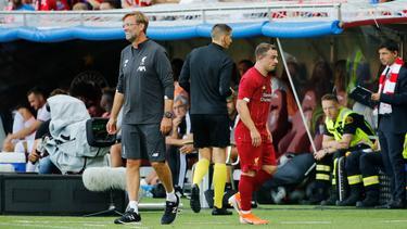 Shaqiri (r.) wurde von Klopp beim FC Liverpool zuletzt kaum noch berücksichtigt