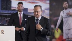 Zwischen Sergio Ramos (l.) und Florentino Pérez soll es zum Streit gekommen sein
