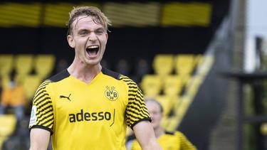 Bradley Fink traf für die U19 des BVB