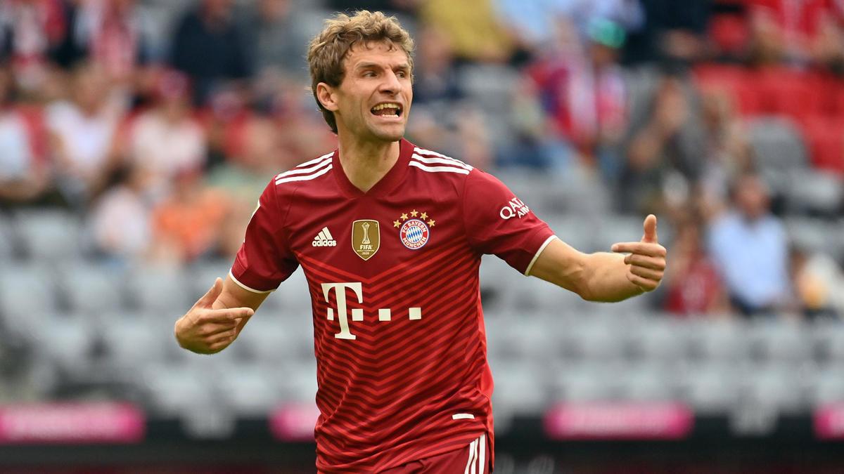 Gestenreich auf dem Fußballplatz unterwegs: Thomas Müller vom FC Bayern