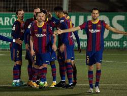 Der FC Barcelona müht sich zum Sieg über den Drittligisten