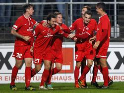 Die Kickers Würzburg wollen wieder jubeln