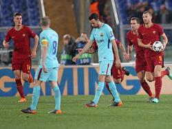 El bosnio Edin Džeko anotó el primer gol de la Roma muy temporano. (Foto: Getty)