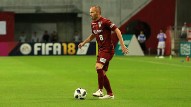 Iniesta en su debut en la JLeague japonesa. (Foto: Getty)